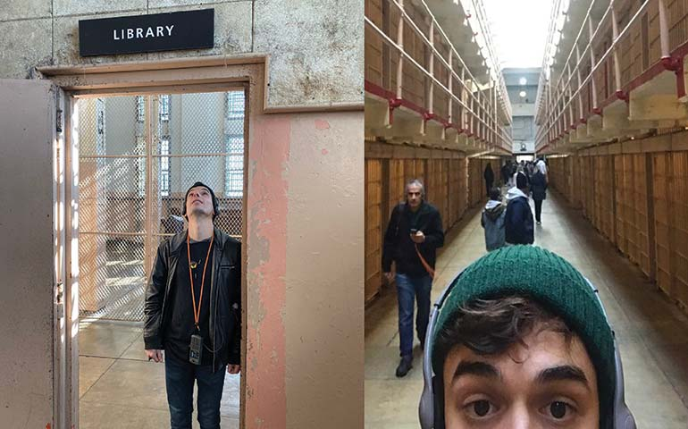 Library and jail cells alcatraz