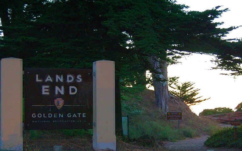 lands end sign in GGNRA