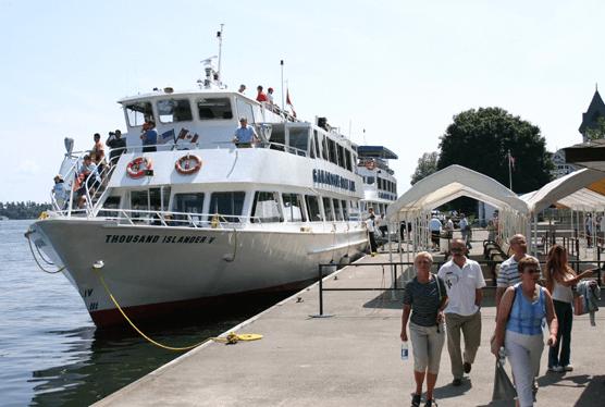 Gananoque docked ready to sail