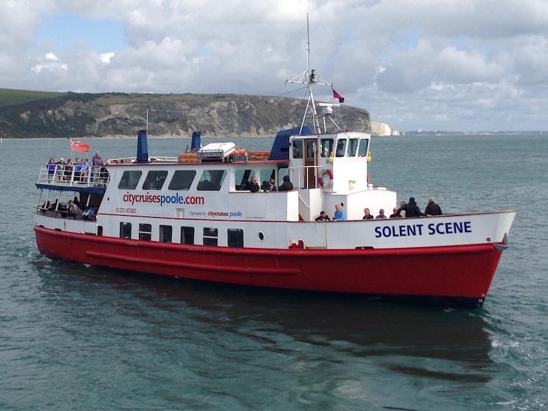 Poole Solent Scene boat people on deck