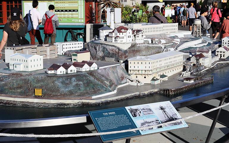 Alcatraz miniature model