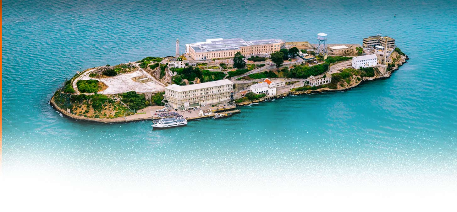Alcatraz Island aus der Luft