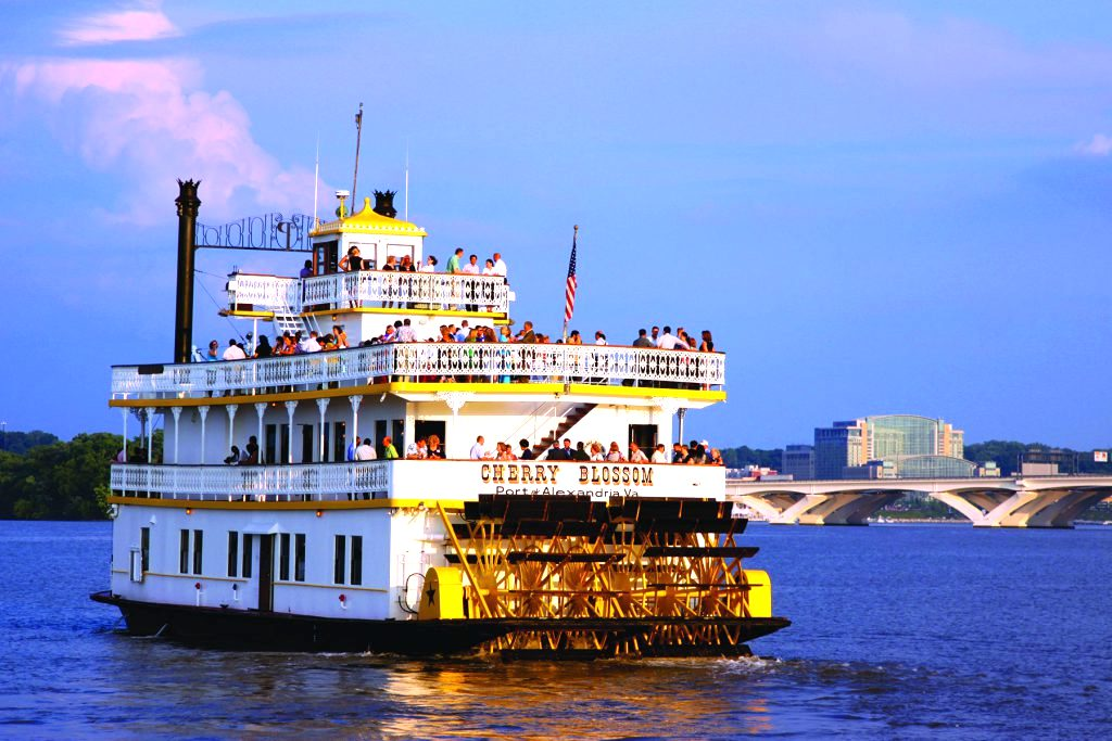 The Cherry Blossom Riverboat on the Potomac River.