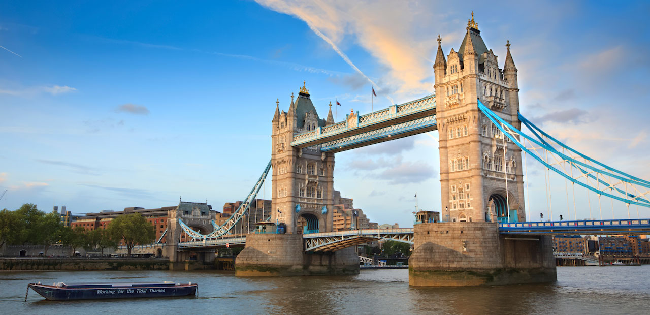 Tower Bridge London in day time.